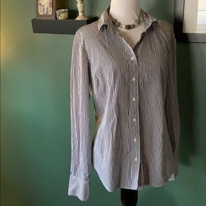 J. Crew pin striped long sleeve shirt MEDIUM